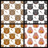 Björngalttjur sömlösa Turkiet vektor illustrationer