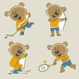 Björnidrottsman nen Arkivbild
