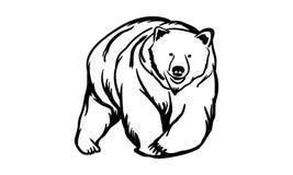 Björnlogo stock illustrationer