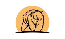 Björnlogo royaltyfri illustrationer
