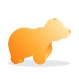 Björnlogosymbol Royaltyfri Bild