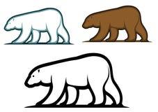 Björnmaskotar i tecknad film utformar Arkivfoton