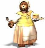 björnmom royaltyfri illustrationer