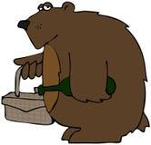 björnpicknick Arkivfoto
