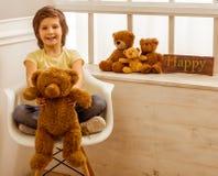 björnpojke little nalle Royaltyfri Bild