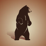 Björnsymbol vektor illustrationer