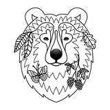 Björntatuering Arkivbild