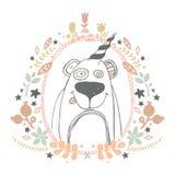 Björnvektorillustration Royaltyfria Bilder