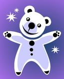 björnwhite Fotografering för Bildbyråer
