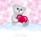 björn tecknad handnalle Royaltyfria Foton