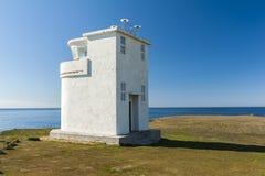 Bjargtangar lighthouse in Iceland stock photos