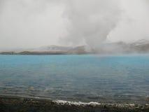 Bjarnarflag, geothermische isländische Landschaft Lizenzfreie Stockfotos
