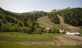Bjelasica mountain with snowy peaks Stock Image