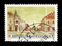 Bjelovar kroatisk serie för städer (III), circa 2007 royaltyfri fotografi