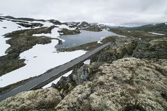 Bjorgavegen - дорога горы в Норвегии Стоковая Фотография RF