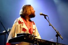 Bjorn Again (tributo de la banda a ABBA) se realiza en el festival de oro del renacimiento Imagen de archivo libre de regalías