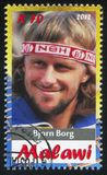 Bjorn Borg. Malawi - CIRCA 2012: stamp printed by Malawi, shows Bjorn Borg, circa 2012 Royalty Free Stock Photography