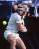 Bjorn Borg. Professional Tennis legend Bjorn Borg. (Image taken from color slide Royalty Free Stock Photos