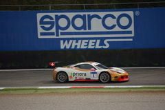 Bjorn Grossman Ferrari 458 Challenge Evo at Monza Stock Images