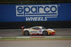 Bjorn Grossman Ferrari 458 utmaning Evo på Monza Arkivbilder