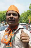 Bjp party workers in India. Stock Image