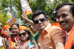 Bjp party workers in India. Royalty Free Stock Images