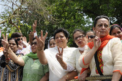 Bjp party workers in India. Royalty Free Stock Photos