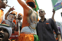 BJP rally in front of BHU . Stock Photos