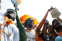 BJP rally in front of BHU . Royalty Free Stock Photo