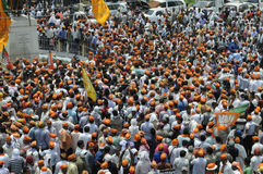BJP rally in front of BHU . Stock Photography