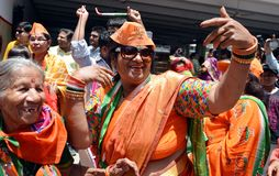 BJP supporter celebrate the victory of Narendra Modi in India