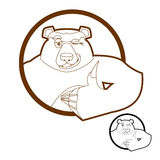 Björntummar up och blinkningar alla väller fram grisslybjörnar Tecken acceptabel H Arkivbild