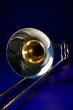 Bk azul isolado Trombone Foto de Stock