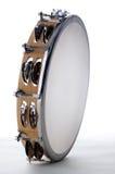 Bk branco isolado Tambourine Foto de Stock Royalty Free