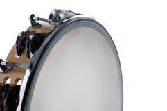 Bk branco isolado Tambourine Fotografia de Stock