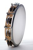 bk isolerad tamburinwhite royaltyfri foto