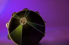 Bk viola isolato Tambourine Immagini Stock Libere da Diritti