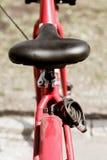 Bkack bicycle saddle Royalty Free Stock Photos