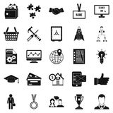 Bkg icons set, simple style Stock Image