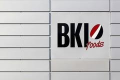 BKI在墙壁上的食物商标 库存照片