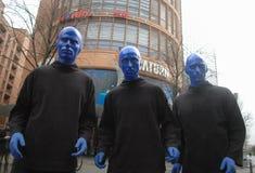 błękit grupy mężczyzna Fotografia Royalty Free