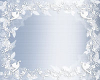 błękit rabatowy kwiecisty zaproszenia atłasu ślub Fotografia Stock