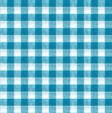 Błękitna i biała tablecloth tekstury tapeta Obrazy Royalty Free