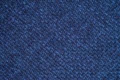 Błękitna sukienna tło tkanina Fotografia Stock