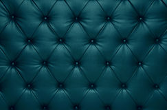 Błękitnego capitone w kratkę powozowa rzemienna dekoracja Obraz Stock