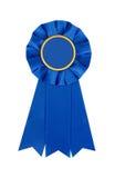 Błękitnej nagrody miejsca zwycięzcy 1st faborek Obrazy Royalty Free