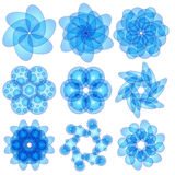 Błękitni abstraktów ornamenty Obraz Royalty Free