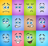 Błękitnooka emocja na barwionym Obraz Royalty Free