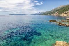 Błękitny Adriatycki morze, Chorwacja Fotografia Royalty Free