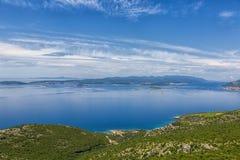 Błękitny Adriatycki morze, Chorwacja Zdjęcia Royalty Free